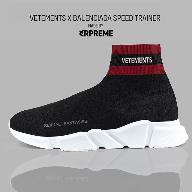 8556a881554 Vetements X Balenciaga Speed Trainer  Cop   🔥 Drop   👎🏽