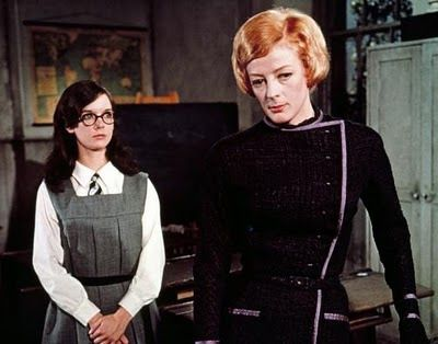 Maggie Smith, in The Prime of Miss Jean Brodie. I loved this movie when I was a teenager. Sex, nudity, private school, and Maggie Smith rules over it all!