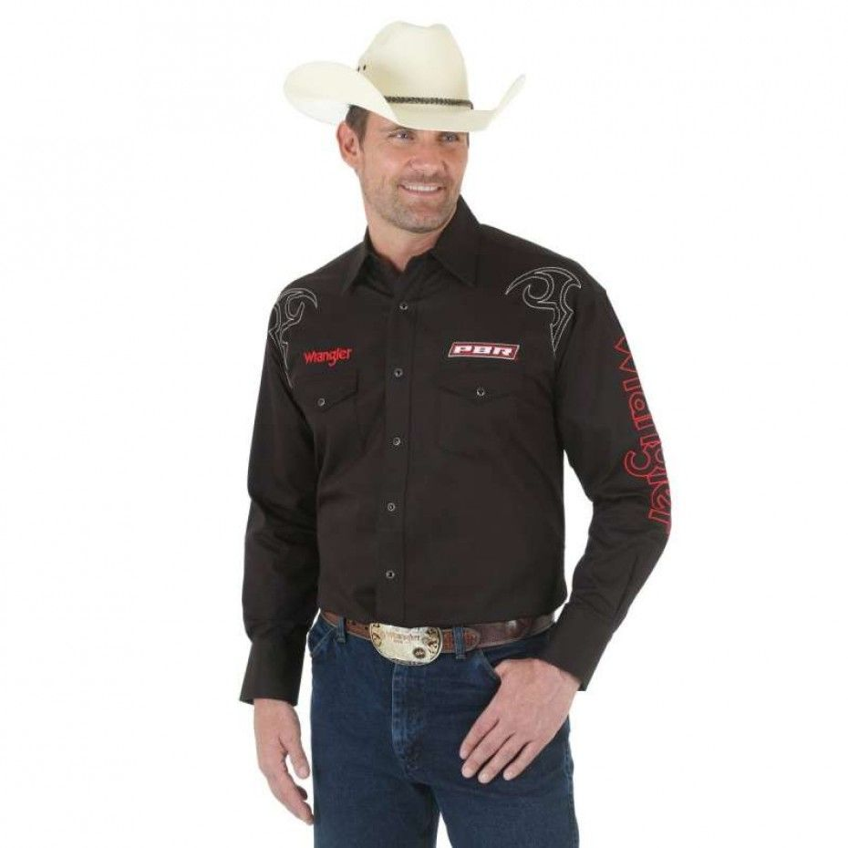 WRANGLER PBR MENS LOGO SHIRT $114.95 Look professional at