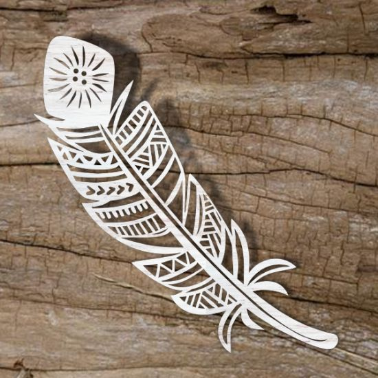 Feather template for laser cutting online store for laser for Laser engraver templates