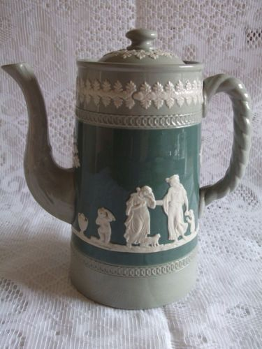Antique-Dudson-Jasperware-Tri-colour-Coffee-Pot-ref-1049 | English ...