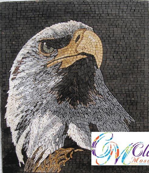 An024 Marble Mosaic American Eagle Tile