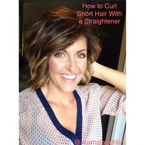 How To Straighten Short Hair Hairstyles More Pinterest Short