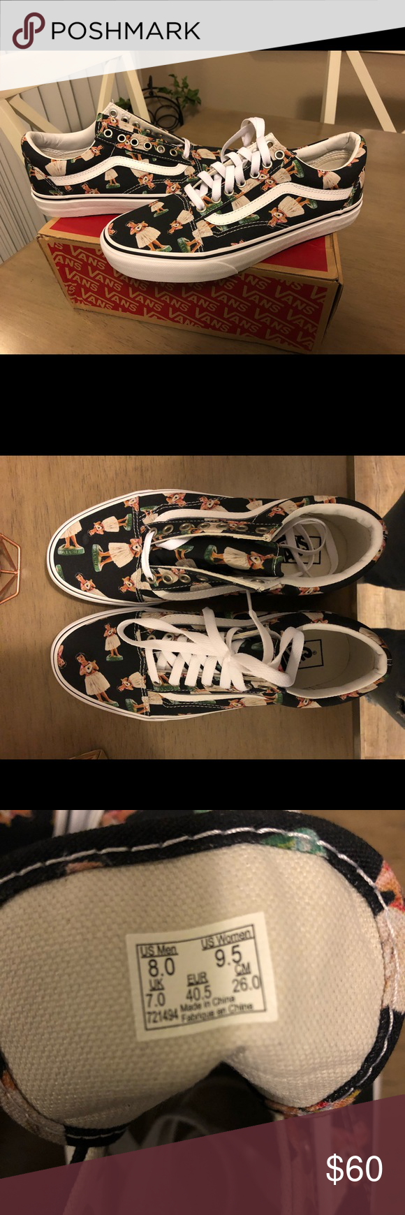 Brand new Vans hula girl shoes size 8