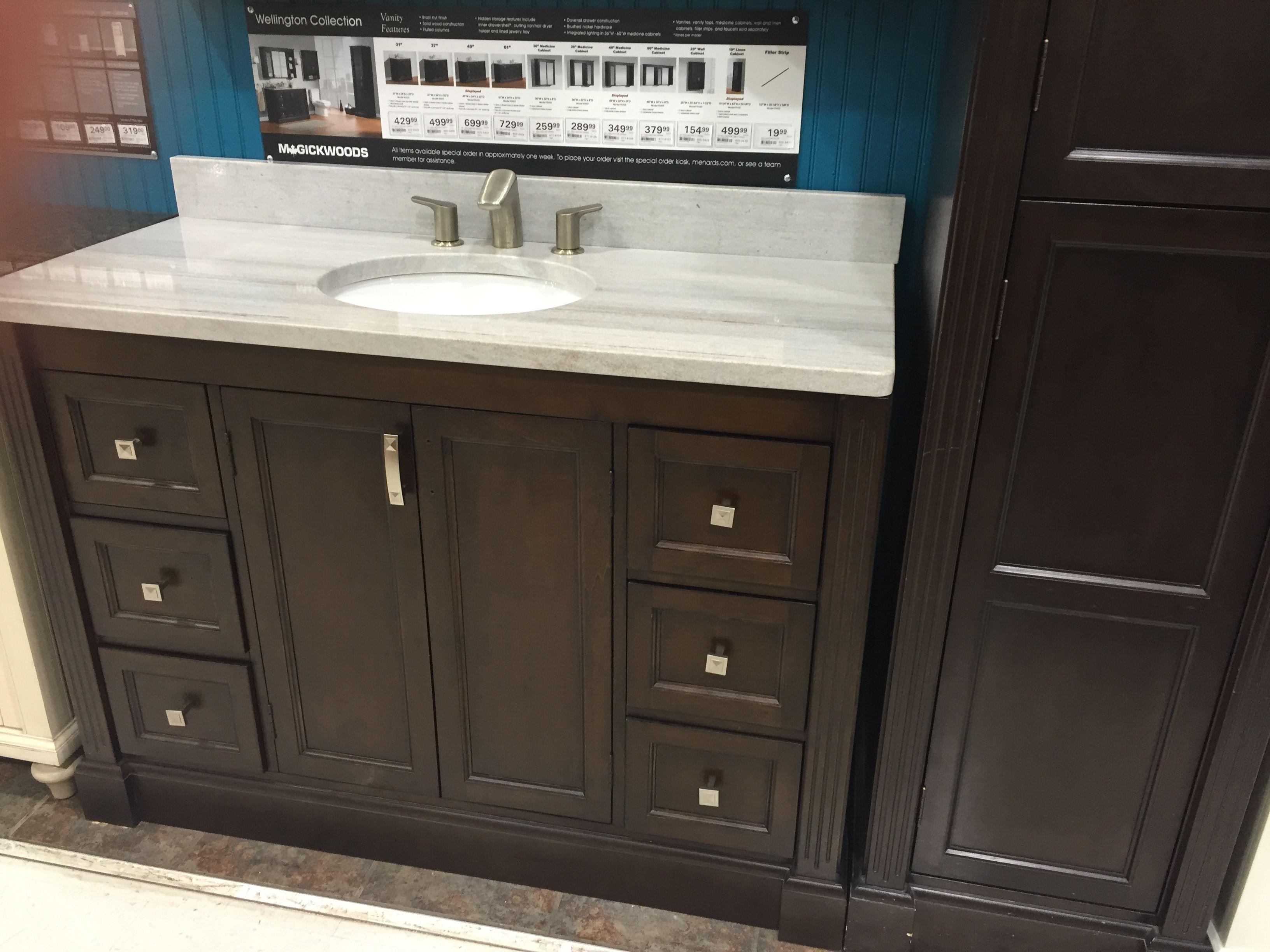 menards wellington vanity bathroom