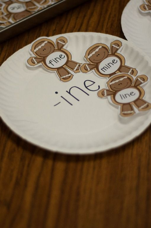 gingerbread word family centers.