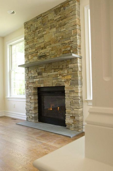 Fireplace Ideas Diy Stone Veneer Fireplace Stacked Stone