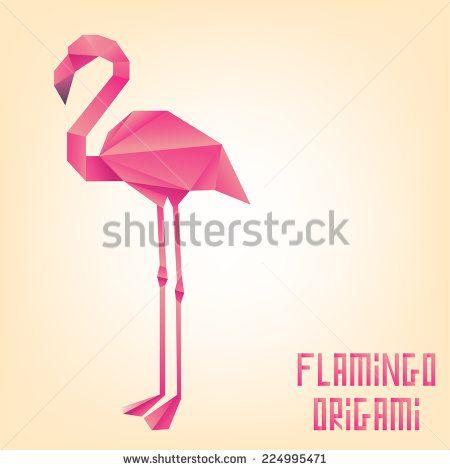 Decorative Origami Paper Flamingo Flamingos Pinterest Origami
