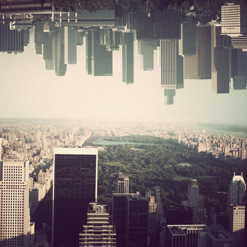 New York Upside Down Cool #iPad #Wallpaper HD. | iPad Wallpapers | City of angels, Skyline, New York