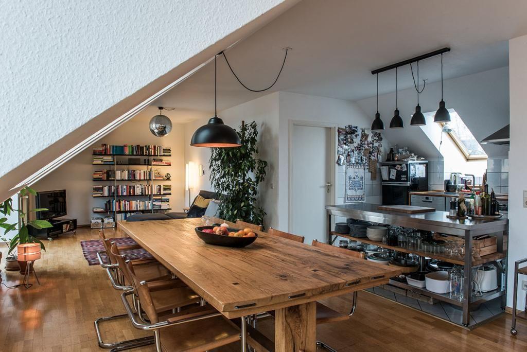 Einrichtungsidee Altbauküche Dielenboden, kleines Esstisch - gemutliches zuhause dielenboden
