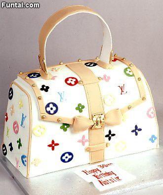 Louis Vuitton Purse Shaped Cake