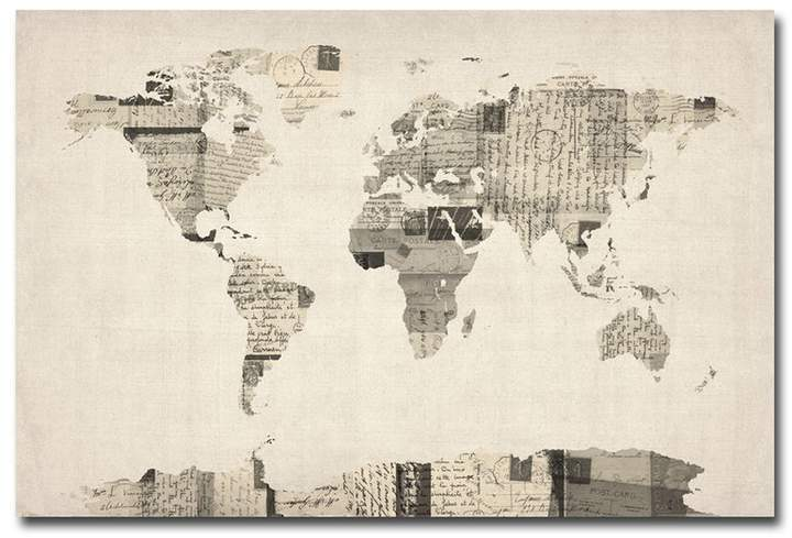 Williston Forge Vintage Postcard World Map Graphic Art On