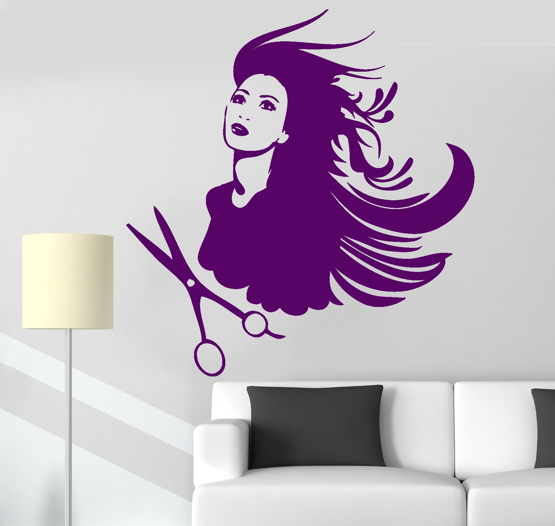 Vinyl Wall Decal Hair Salon Barbershop Stylist Hairdresser - Custom vinyl wall decals for hair salonvinyl wall decal hair salon stylist hairdresser barber shop