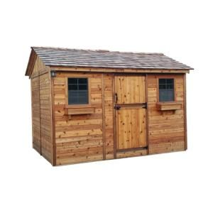 Outdoor Living Today Cabana 8 Ft X 12 Ft Western Red Cedar Garden Shed Cb128 The Home Depot Shed Plans Outdoor Storage Sheds Firewood Shed