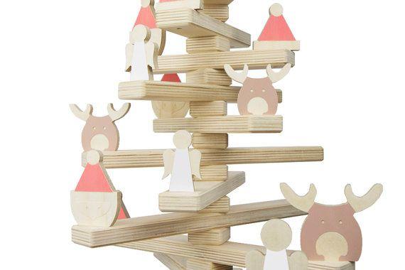 Wooden Christmas Santa Angel Reindeer от onetwotreedesigns на Etsy