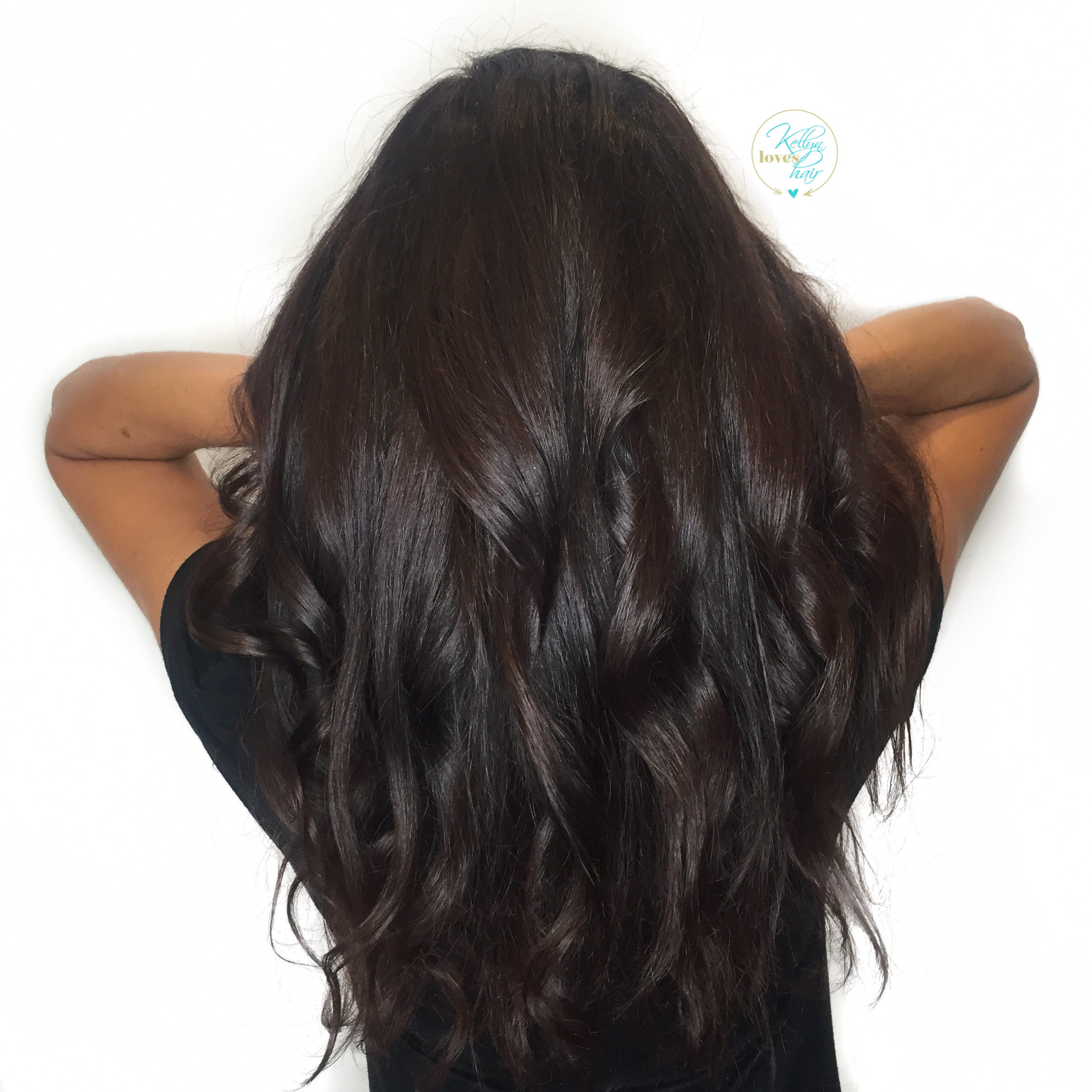 Rich dark chocolate brown hair color - by Kellyn at Bow & Arrow ...
