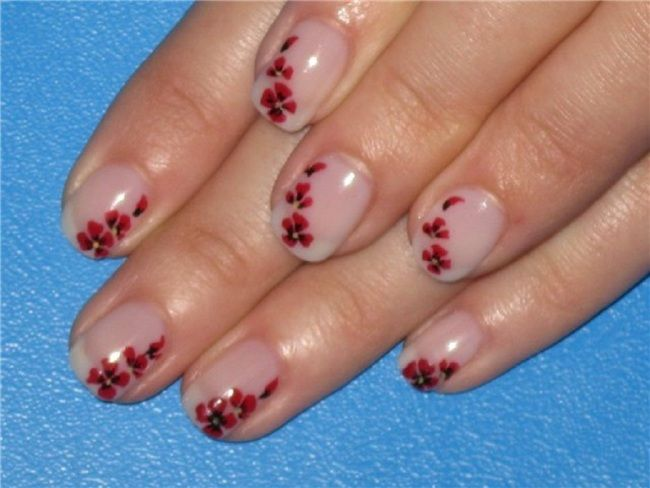 Small Flower Nails Designs For Girls Nail Designs Pinterest