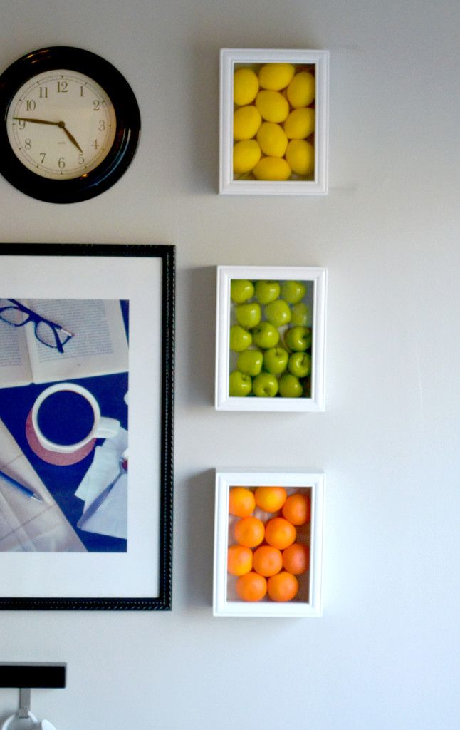Colorful Kitchen Wall Art With Fake Fruits Kitchen wall art