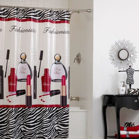 Superbe Diva Chic PEVA Shower Curtain $25.00