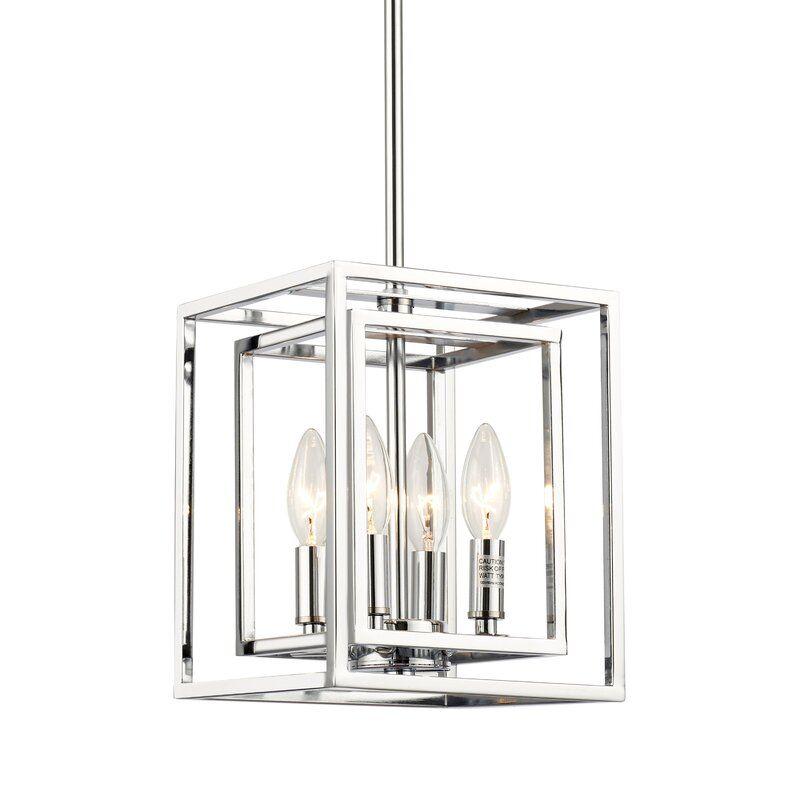 Heil 4 Light Lantern Square Rectangle Pendant Ceiling Lights Pendant Lamp Lantern Lights