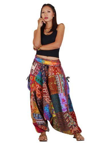 Patchwork+Harem+Pants+Aladdin+bloomers+yoga+clothes+by+Thhandmade,+$ - hippies vestimenta