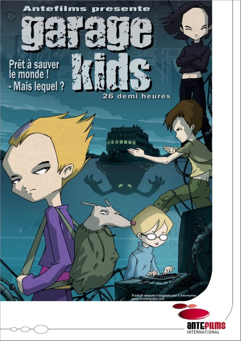 Front Artwork On The Pitch Material For Garage Kids Code Lyoko