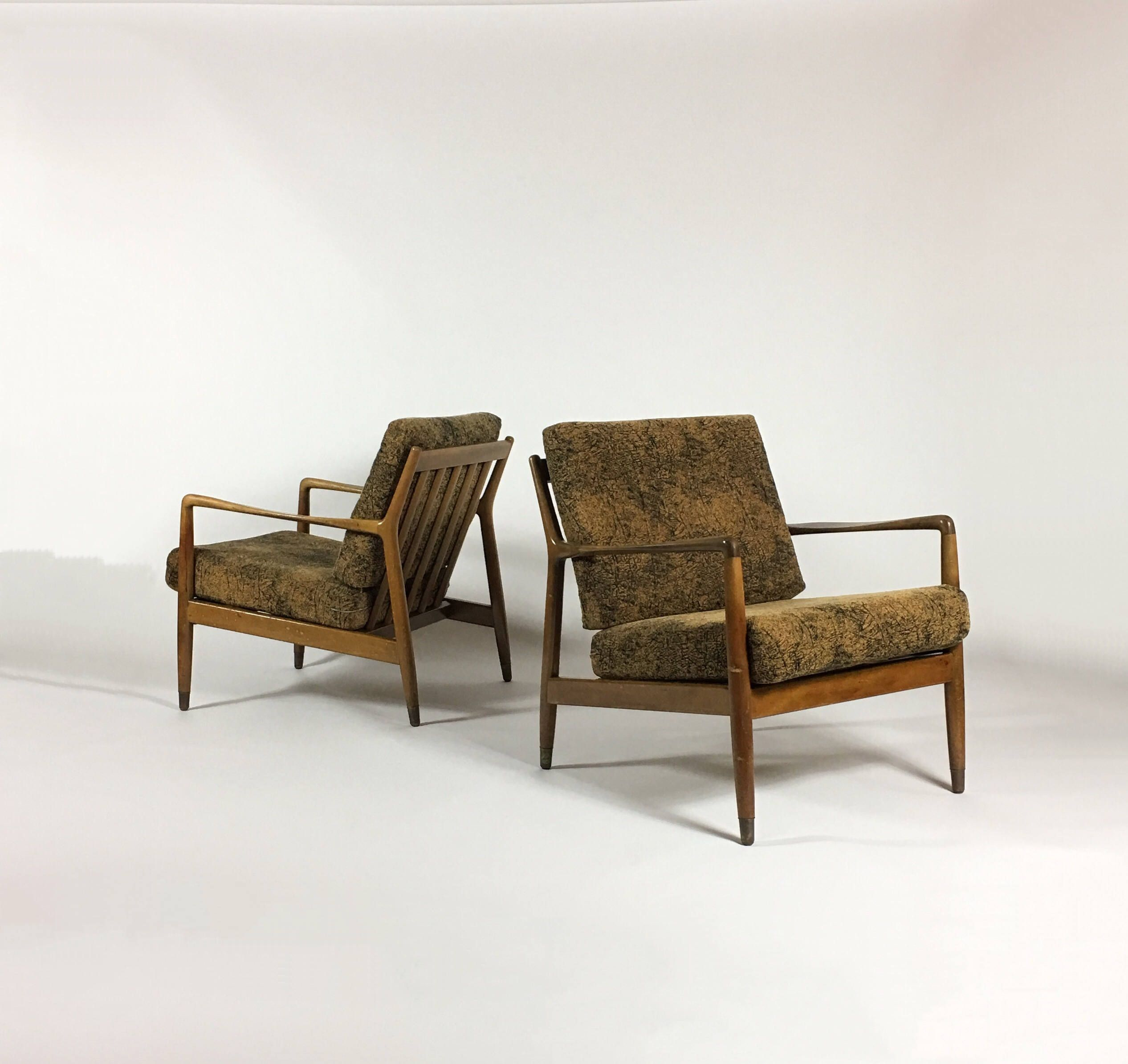 Pair Folke Ohlsson DUX Modern Lounge Chairs, Mid Century Modern Chair,  Scandinavian Furniture,