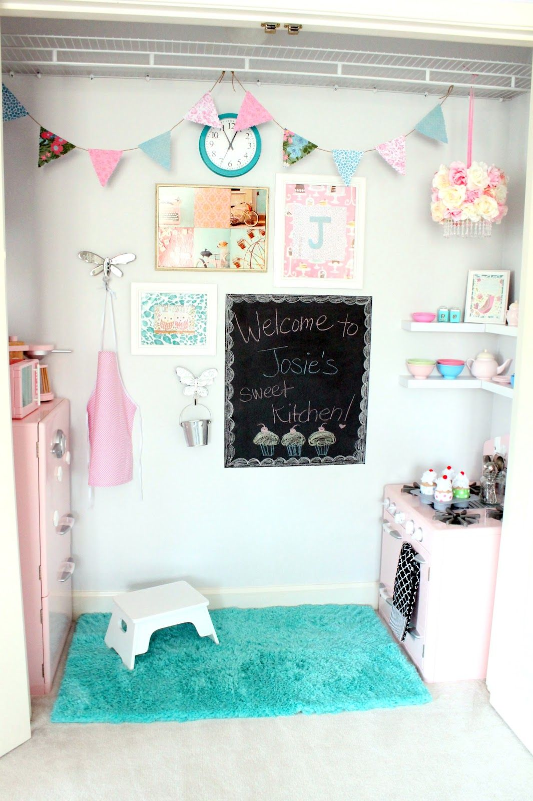 A Play Kitchen in the Closet Girls play kitchen