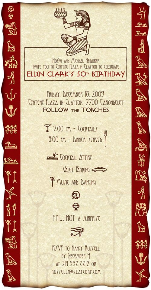 Egyptian Themed Birthday Invitation Party In 2019