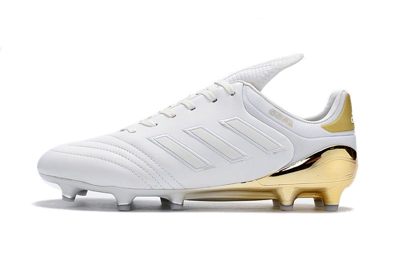 2017 2018 Fifa World Cup New Soccer Cleats Adidas Copa 17 1 Fg White Gold Soccer Cleats Adidas Gold Adidas Football Shoes