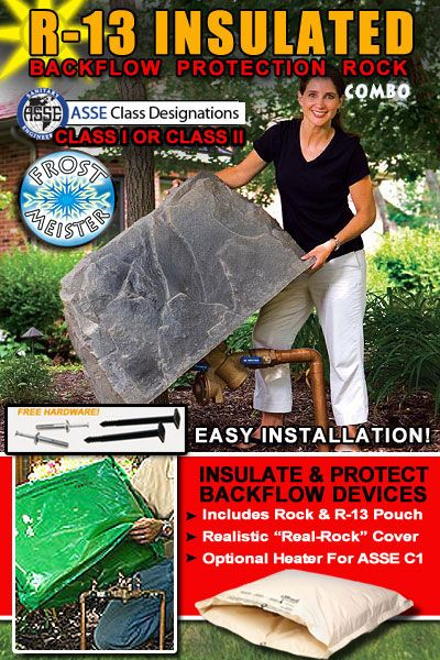 Best Of Both Worlds Cover Hide And Insulate Water Pipes Pretty Slick Fake Rock Fake Rock Covers Artificial Rocks