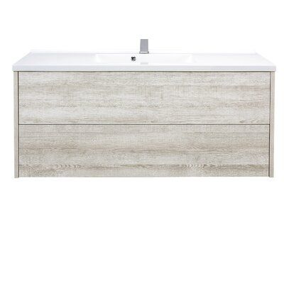 Orren Ellis Mcpeak 47 Wall Mounted Single Bathroom Vanity Set