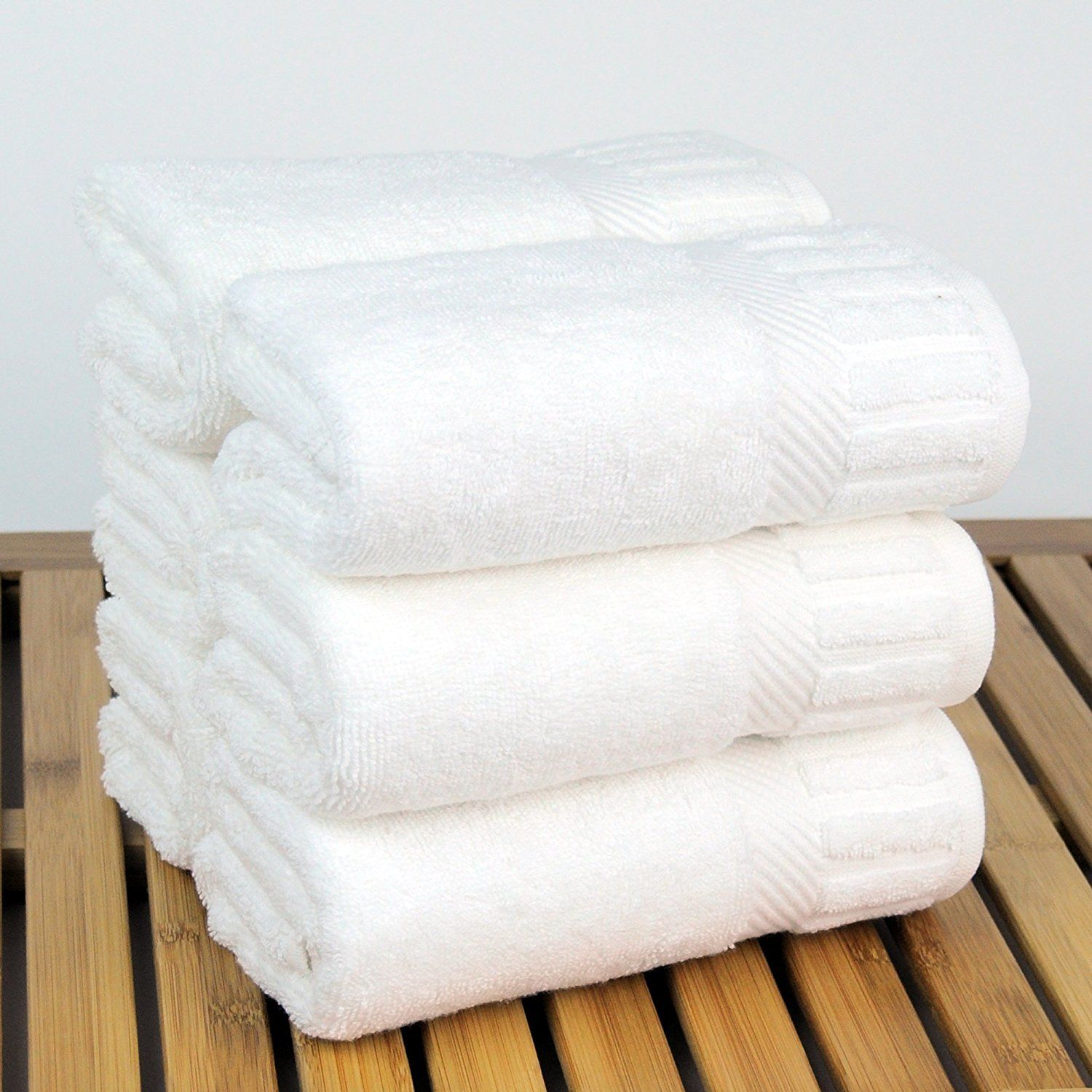 Luxury Hotel and Spa Collection Bath Hand Towels Set of 6 100/% Turkish Cotton
