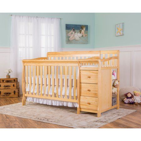 Dream On Me 5 In 1 Brody Convertible Crib Conversion Post Natural Brown In 2019 Products Convertible Crib Cribs Toddler Furniture