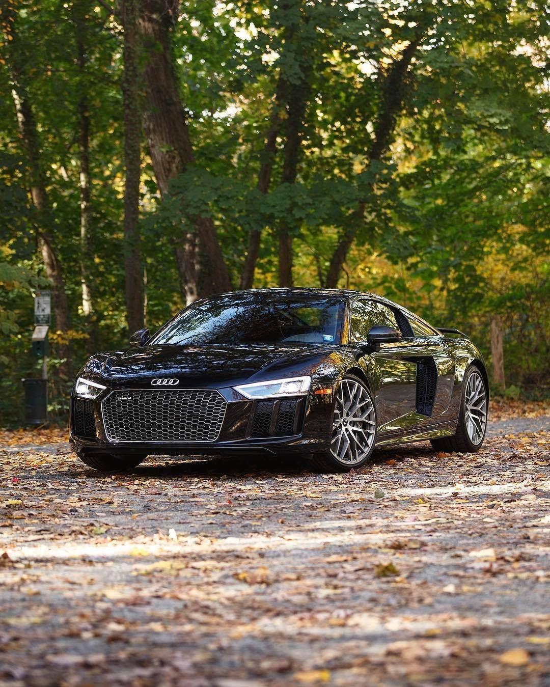 Audi Sport Performance Parts R8 V10 Plus Is Strictly: 2016 Audi R8 V10 Plus In Mythos Black Metallic
