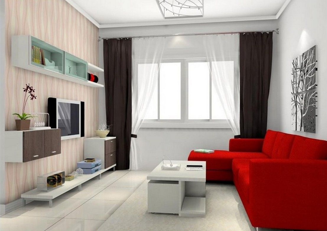 Nice 25 Beautiful Red and White Color Scheme For Cozy Living Room ...