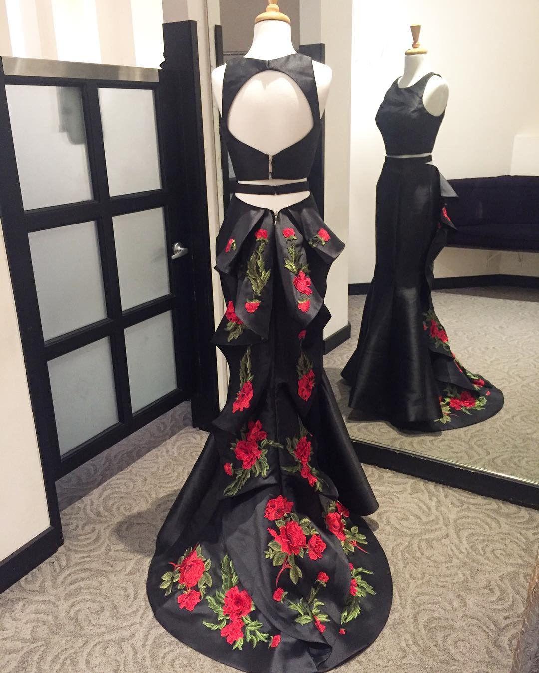 New arrival prom dressmodest prom dressblack evening dressmermaid