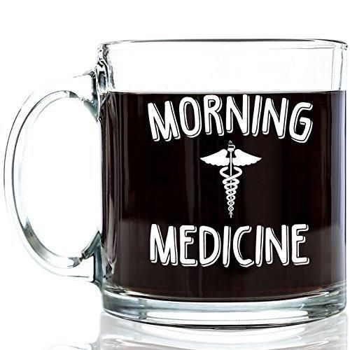 Cool Coffee Mugs For Men morning medicine funny glass coffee mug 13 oz - best mother's day