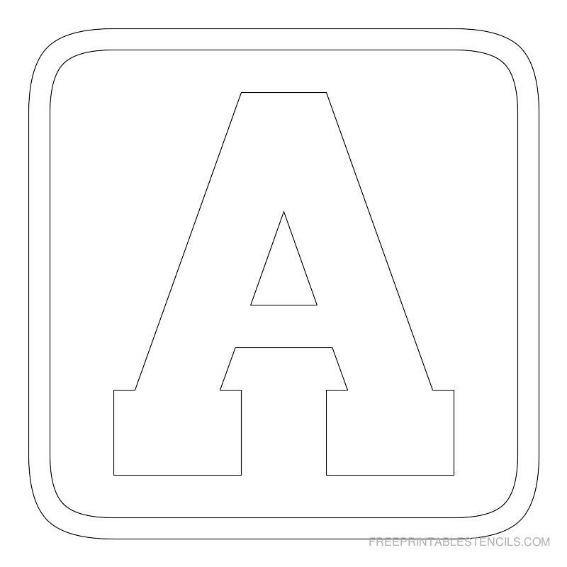 graphic regarding Free Printable Block Letters titled Absolutely free Printable Alphabet Stencils Printable Block Letter