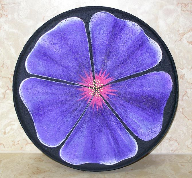 Flower Stepping Stone Painted Stepping Stones Painted Rocks Stone Painting