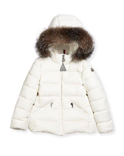 f2bdb15e2582 K0PC9 Moncler Aimeet Quilted Coat w  Fur Hood
