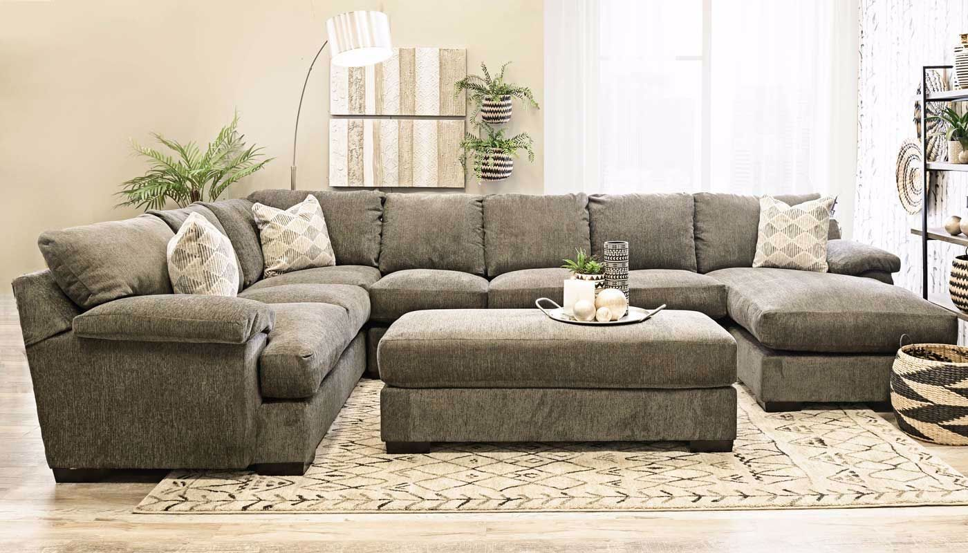 Bermuda Sectional With Chaise Home Zone Furniture Furniture Stores Serving Dallas Fort Worth And Northeast Texas Mattr Furniture Sectional Mattress Sets