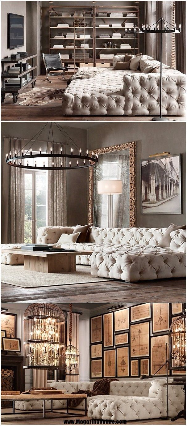 A tufted fabric couch from bretz amazing home interior decorating