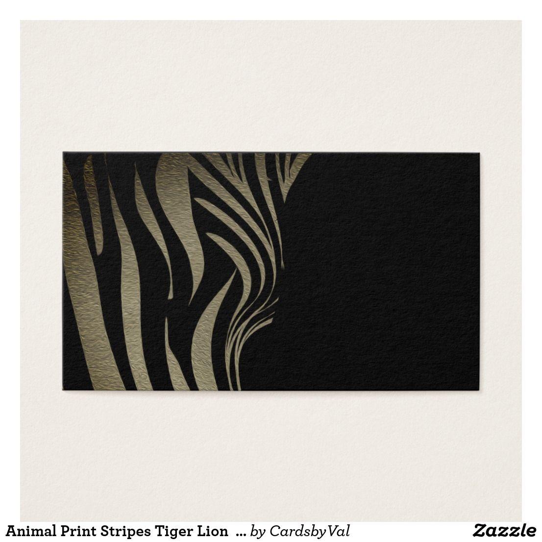 Animal Print Stripes Tiger Lion Business Cards