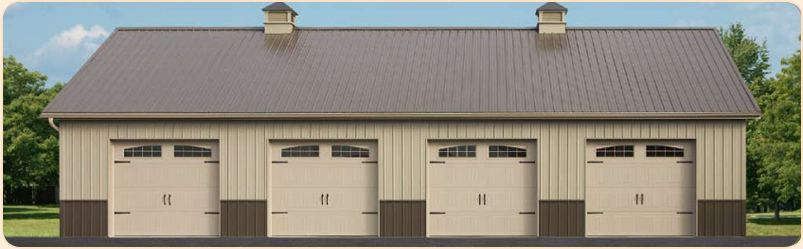 pole building garages double wide garages stoltzfus builders - Pole Barn Design Ideas