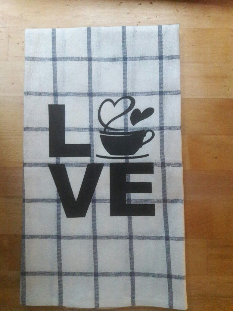 For the coffee lover in you. #coffee #love #towel #custom #kitchentowels #red #coffeelover #noir23 #noir23boutique