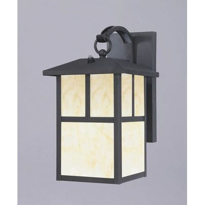 Westinghouse Lighting Nova Scotia  Outdoor Wall Lantern in Textured Black- Energy Star