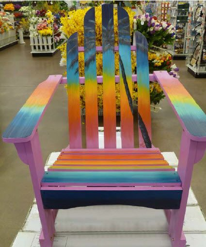 A.C. Moore Sunset Adirondack Chair by Karen Cloniger