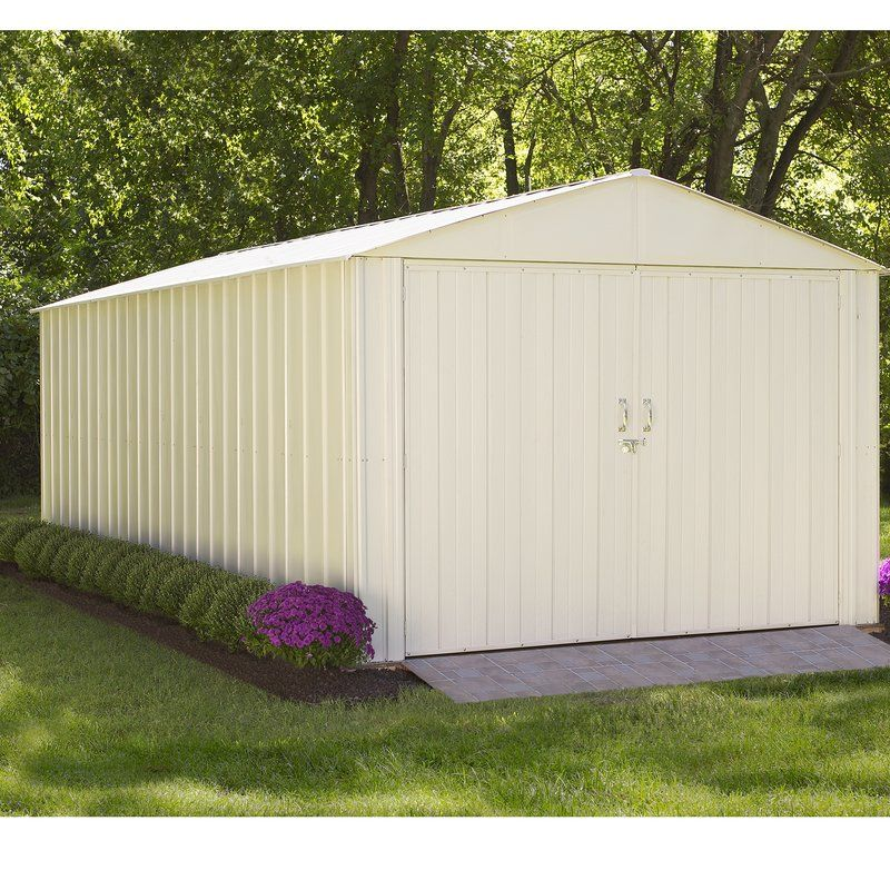 Commander 10 Ft W X 20 Ft D Metal Storage Shed Metal Storage Sheds Steel Storage Sheds Built In Storage