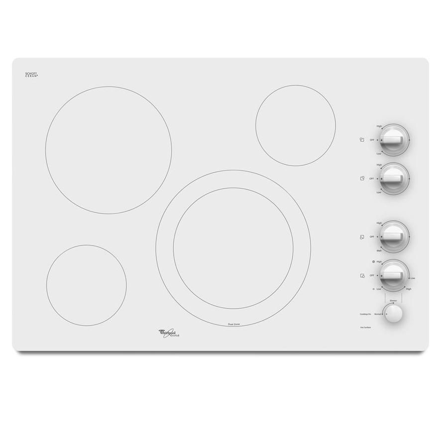 Whirlpool Countertop Stove Whirlpool Gold 4 Element Smooth Surface Electric Cooktop White
